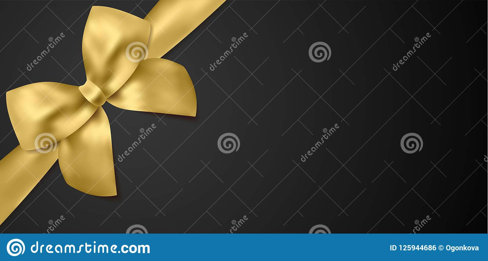 voucher gift certificate coupon template gold bow golden ribbon