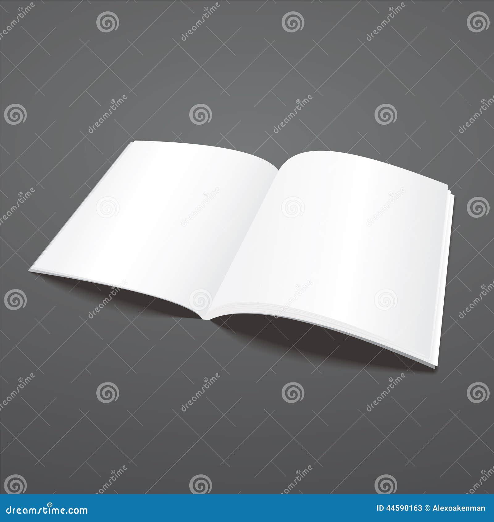 Blank Vector Open Magazine Template Stock Vector - Image ...