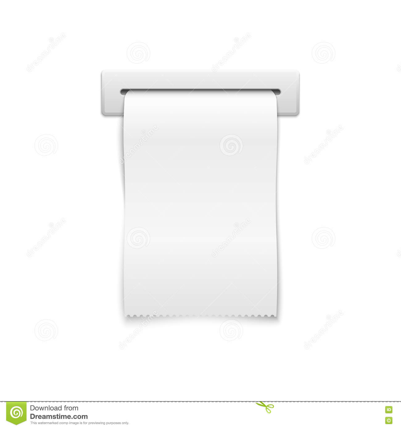blank vector shopping cash receipt stock vector illustration of