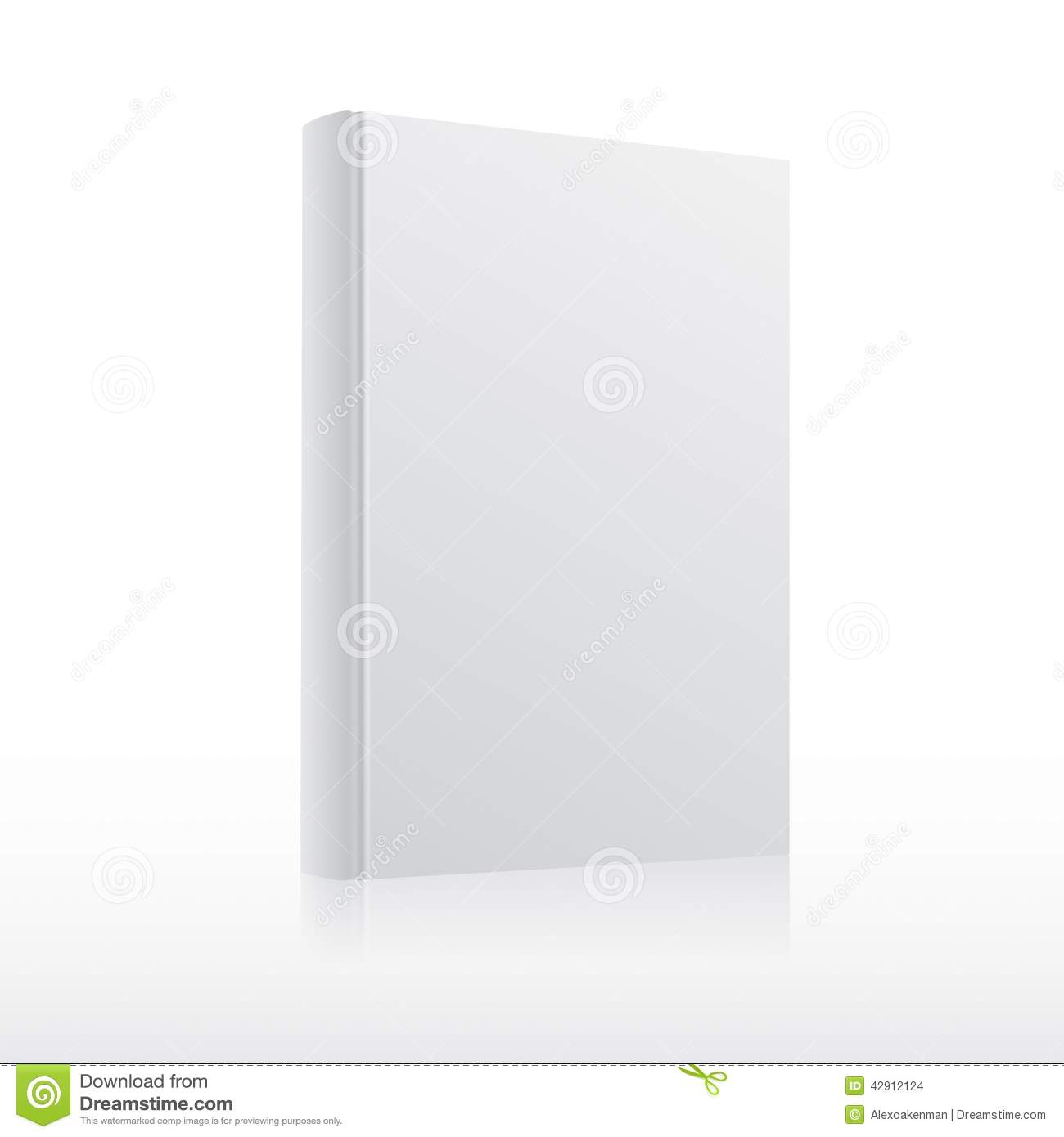 Empty Book Cover Template : Blank vector white book cover template stock