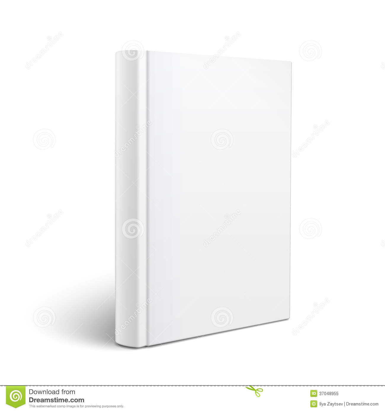 Book Cover Illustration Fee ~ Blank vertical book template stock vector image