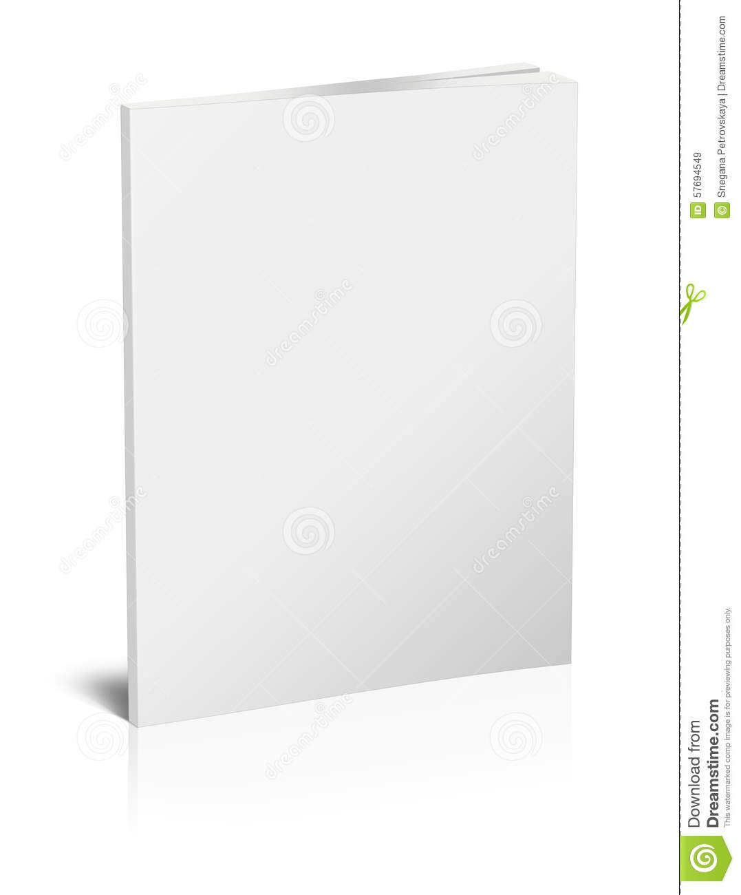 Book Cover Template Vol ~ Blank vertical book template stock illustration image