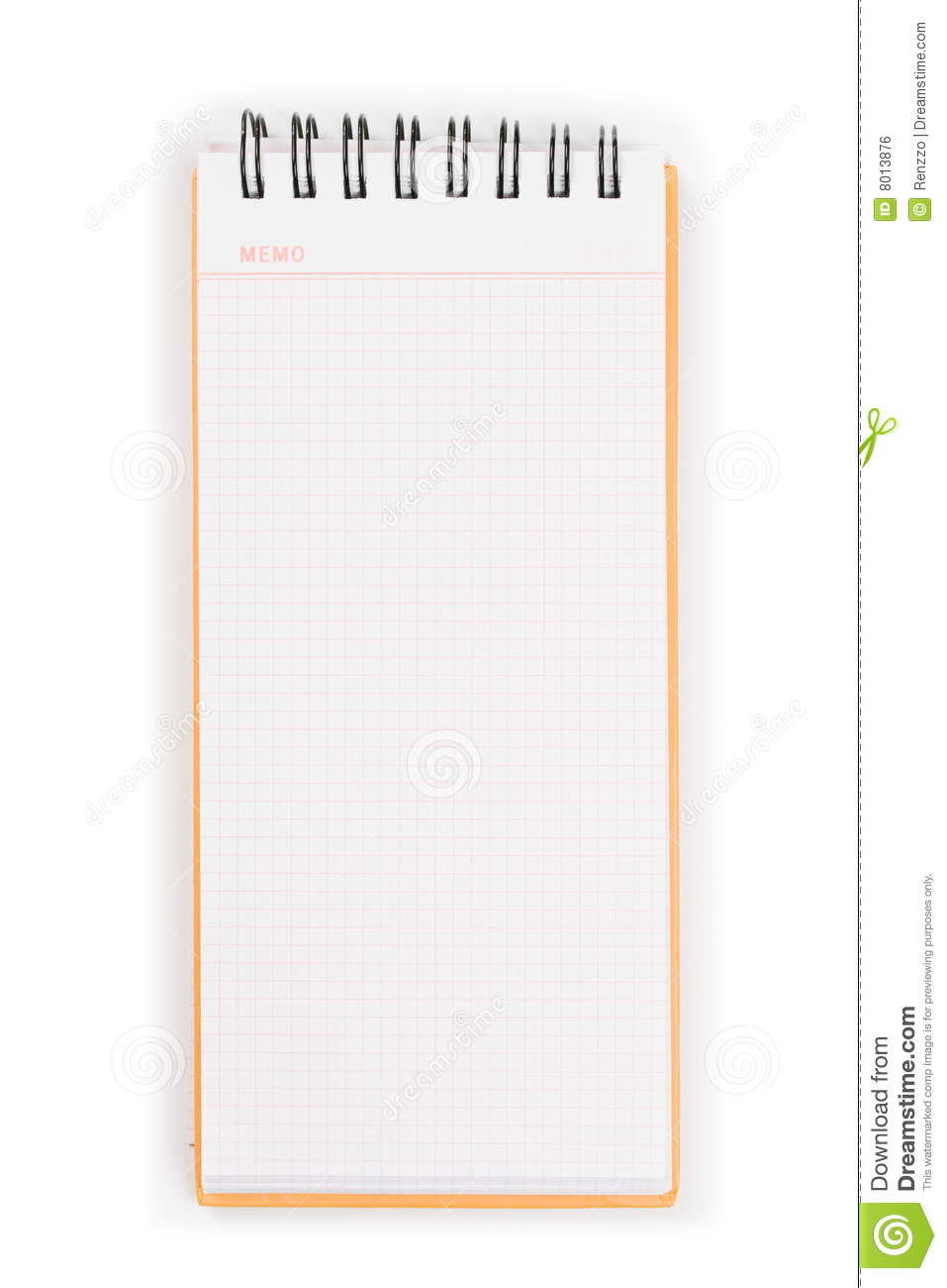 blank vertical memo pad orange cover royalty stock image blank vertical memo pad orange cover