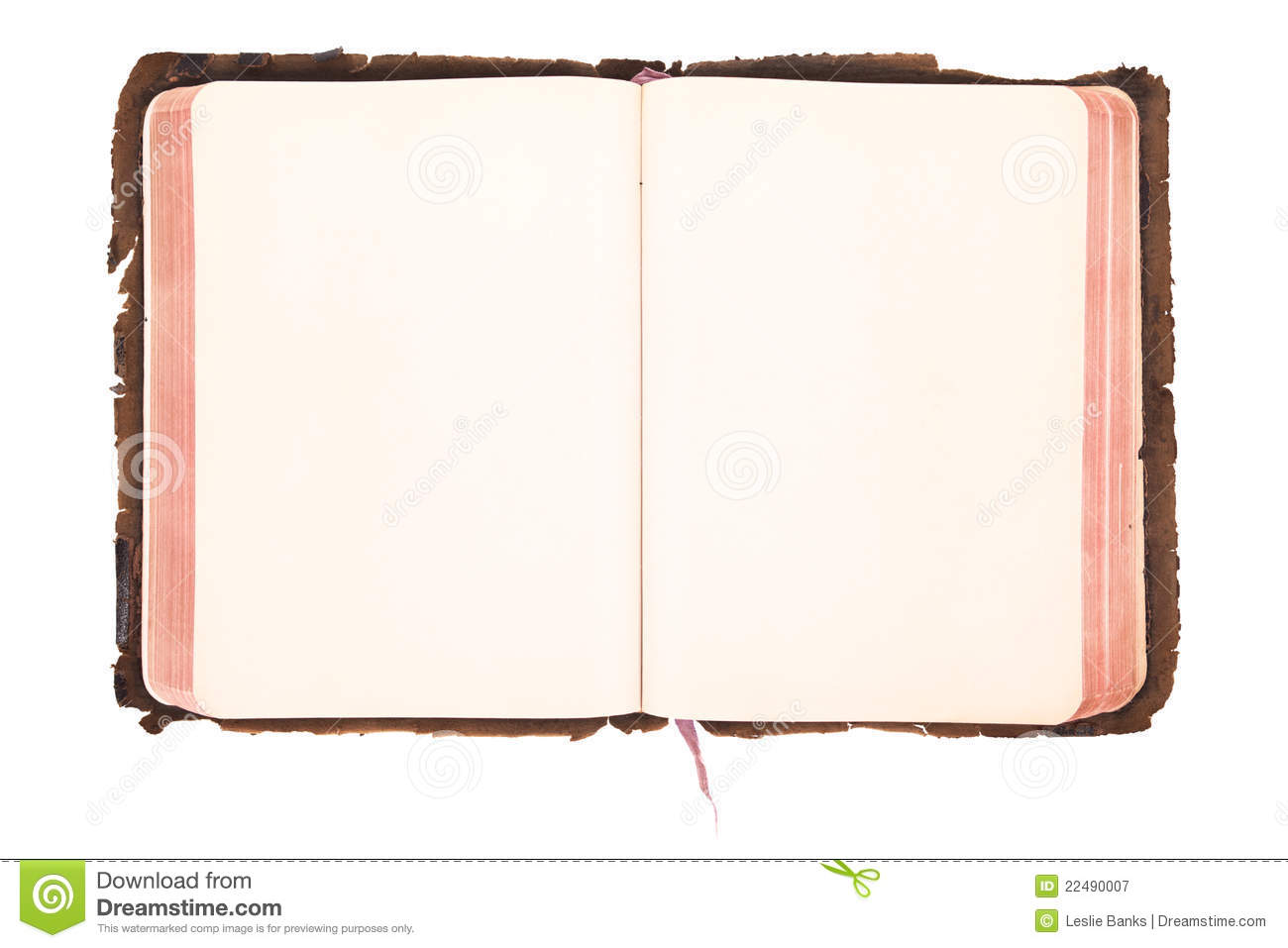 Blank Vintage Book Open Stock Image Image Of Worn White 22490007