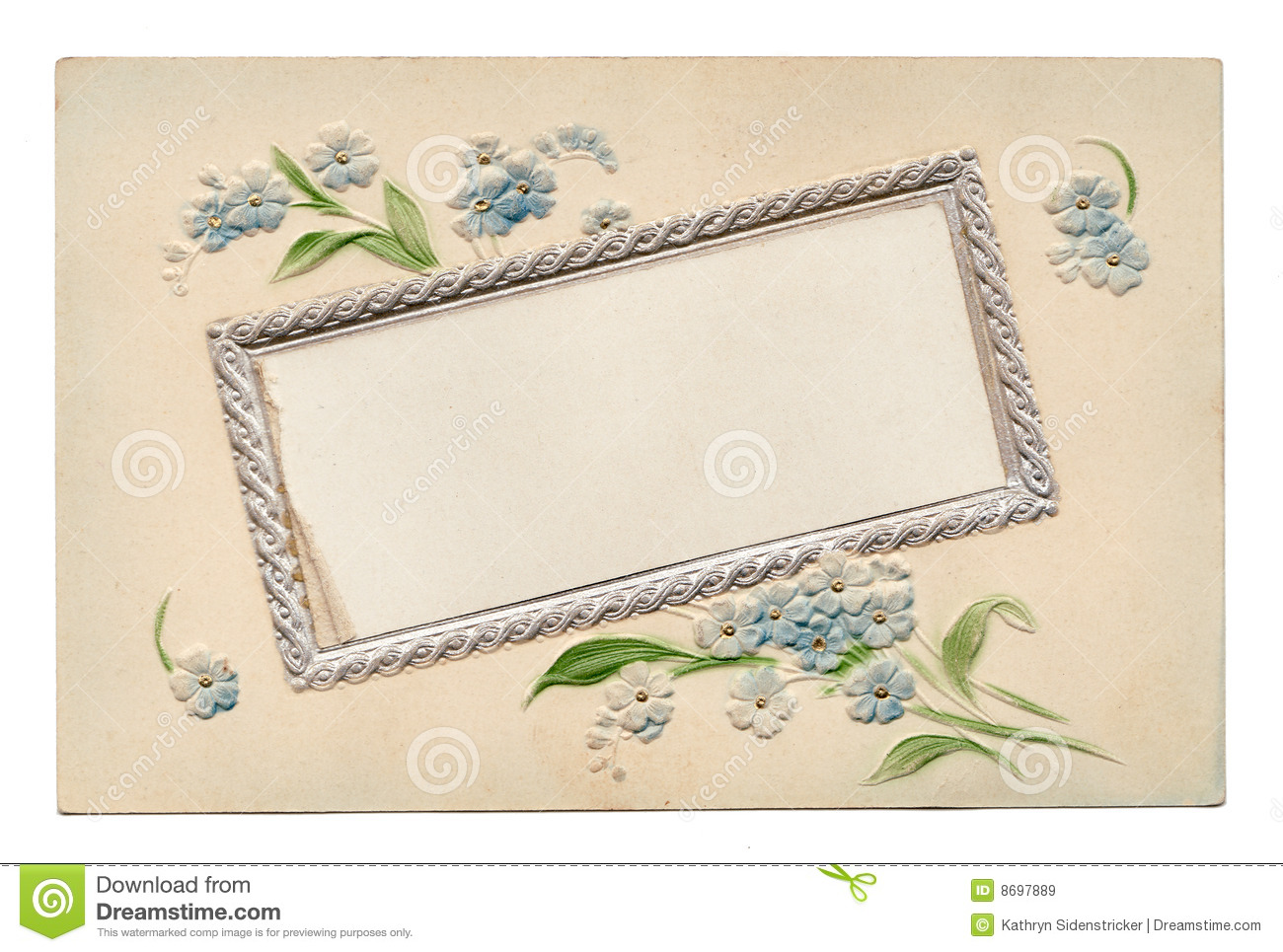 Italian handwritten postcard letter stock photo image 39254147 - Blank Vintage Floral Postcard 1910 S Royalty Free Stock Images