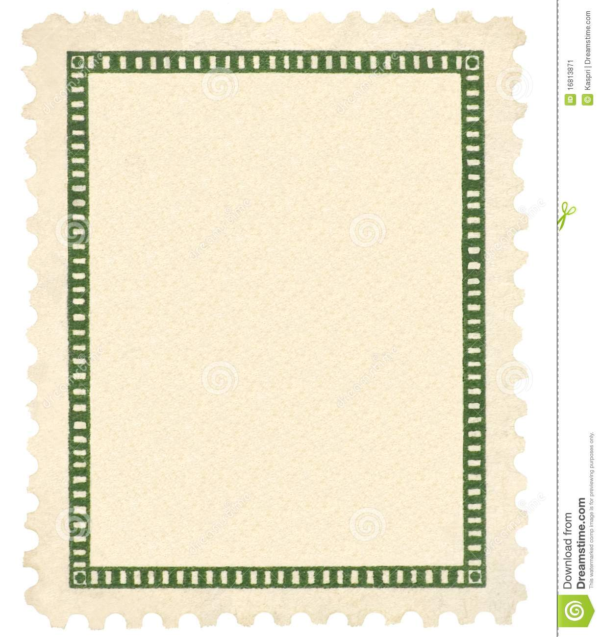 blank vintage postage stamp green vignette macro stock image image 16813871. Black Bedroom Furniture Sets. Home Design Ideas