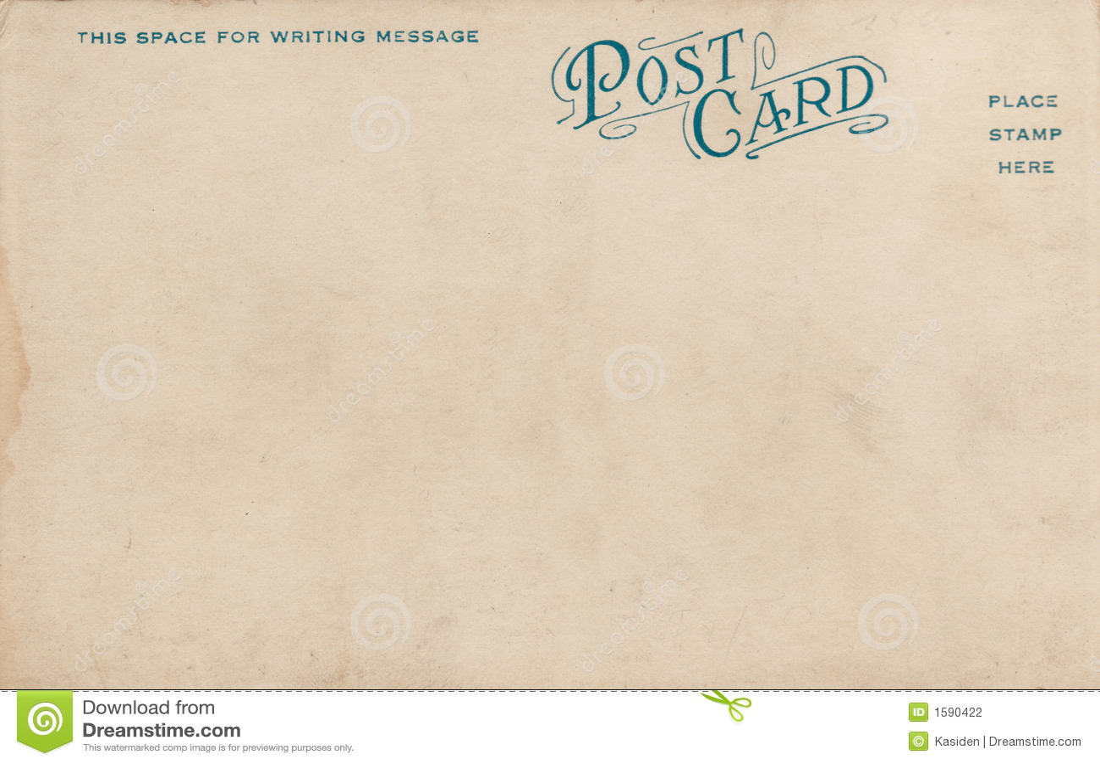 Vintage Postcard Back Blank vintage postcard 1900's stock photography ...