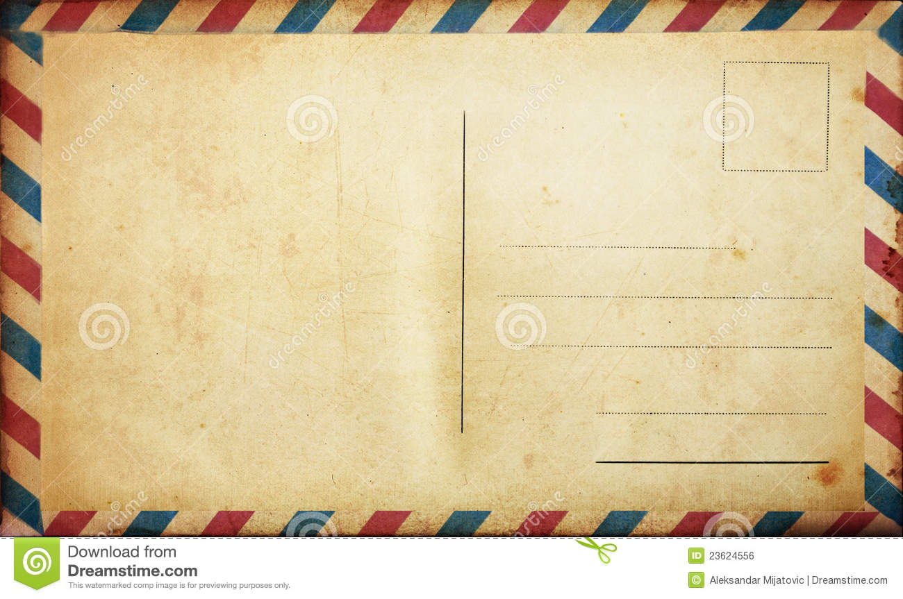 Blank Vintage Postcard Stock Photo Image Of Postal