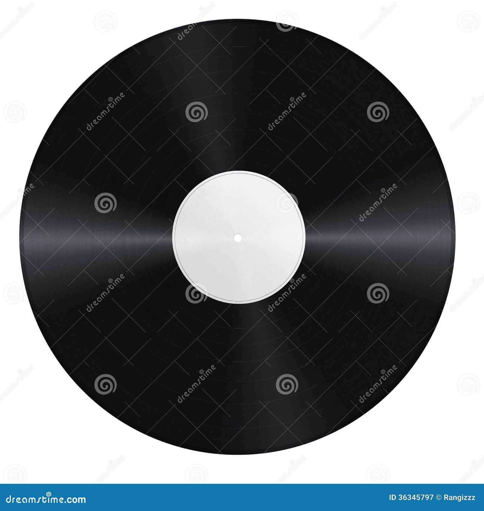 Blank Vinyl Record Stock Image Image Of Design Empty