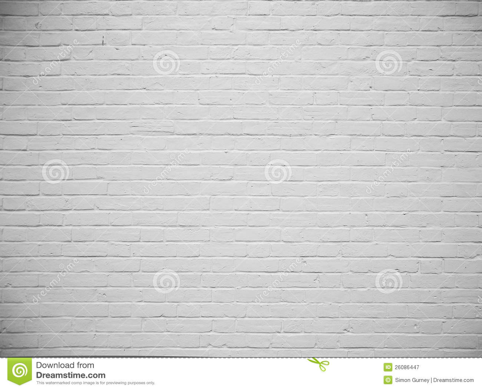 Blank vit målad tegelstenväggbakgrund