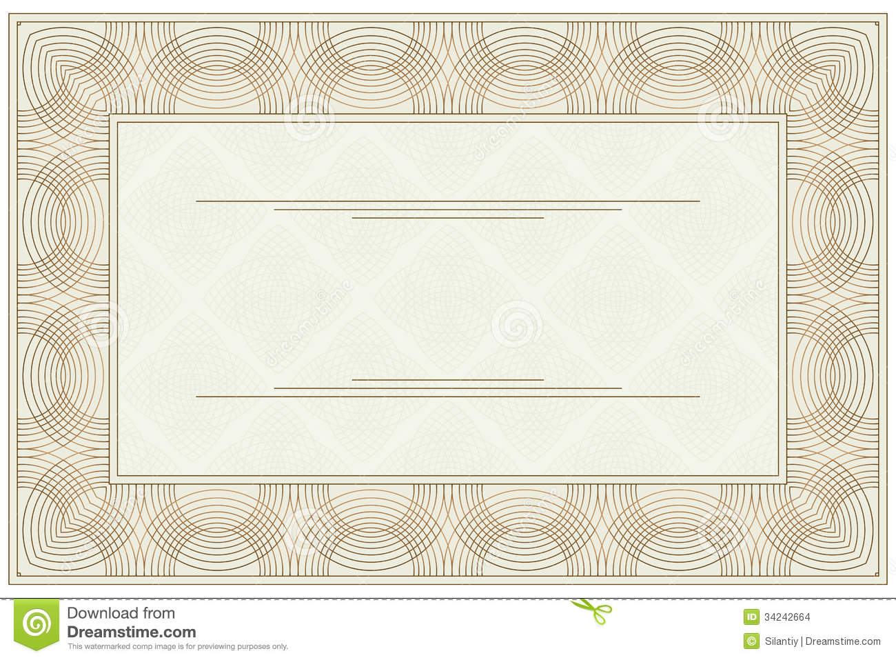 Blank Voucher Stock Images Image 34242664