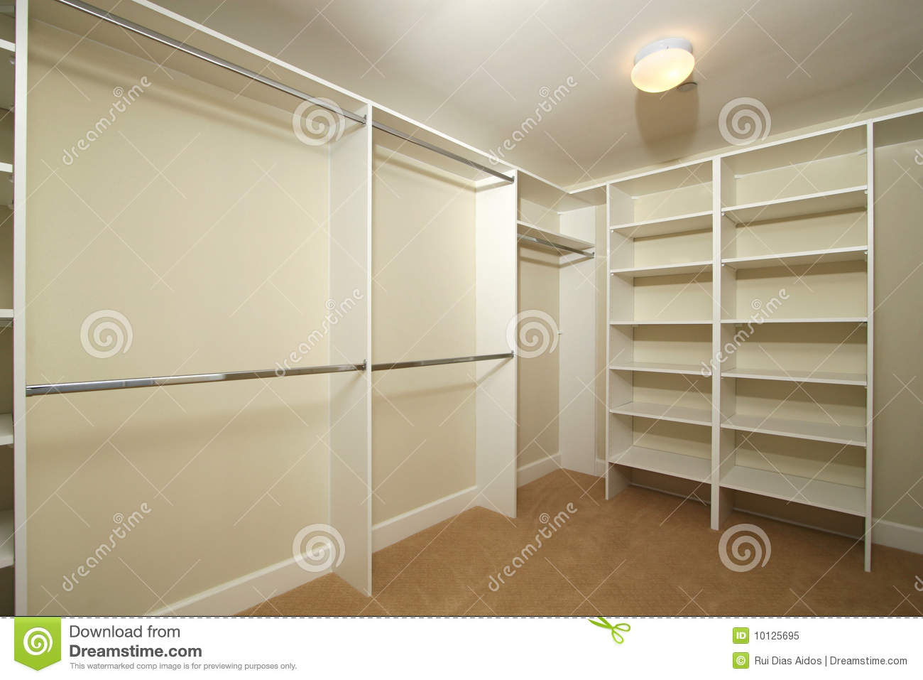 Blank Walk In Closet Stock Image Image Of Room
