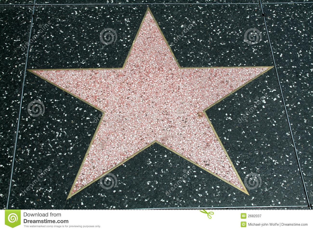 blank walk of fame star stock image image of movie