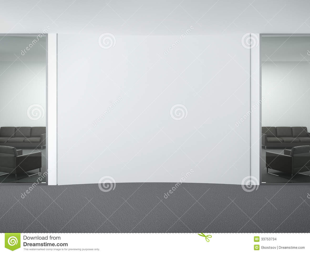 blank wall in office stock images - image: 33753734