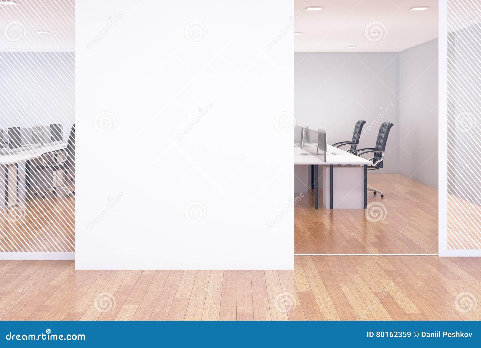wall office. Blank Wall In Office