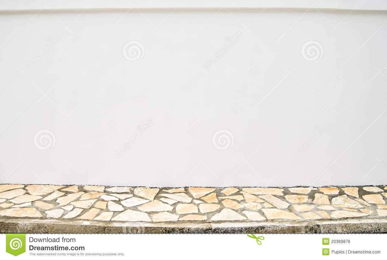 Blank Wall And Sidewalk Royalty Free Stock Image Image