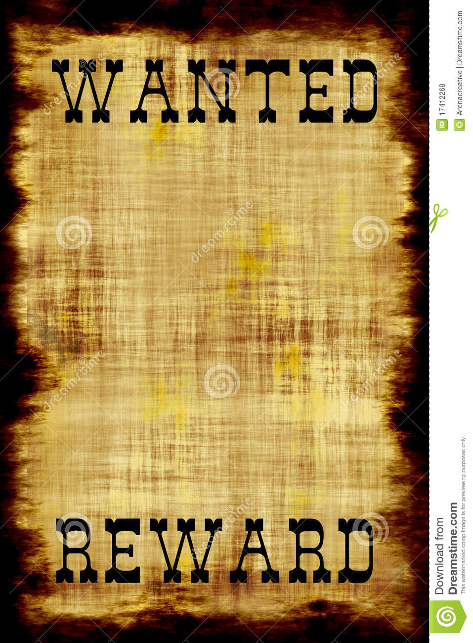 Wanted Reward Poster Template Wanted Poster Photos Royalty – Wanted Poster Template Download