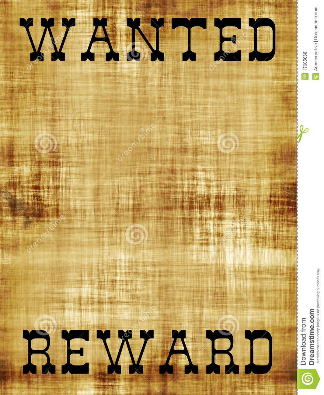 Blank Wanted Outlaw Poster Royalty Free Stock Photos