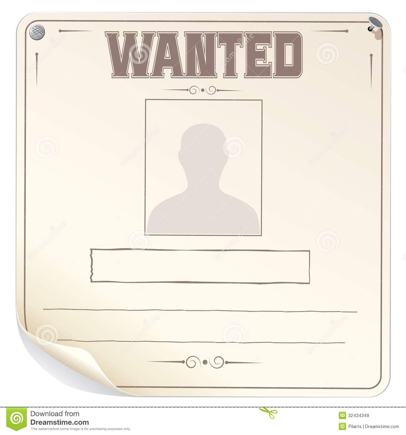 Blank Wanted Poster Vector Stock Vector Image Of Border