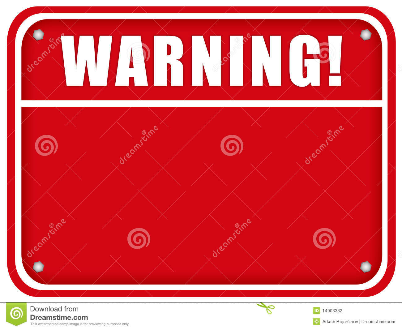 Blank Warning Board Stock Photography - Image: 14908382