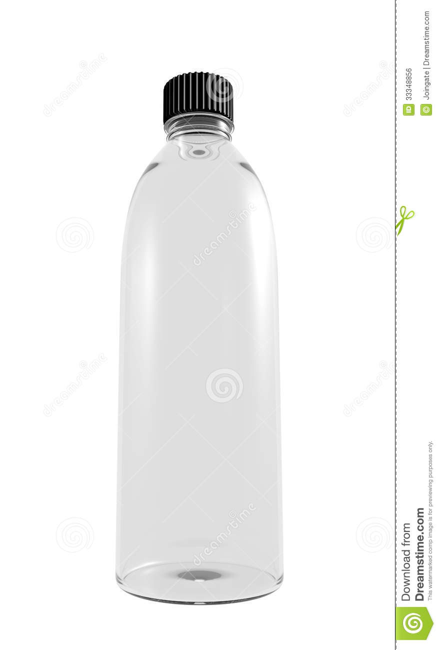Blank water bottle design on a white background royalty for What to do with empty plastic bottles