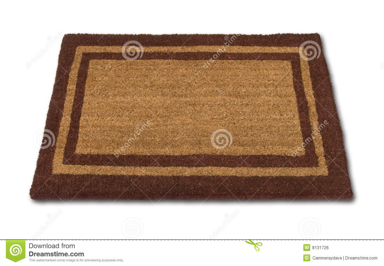 Blank Welcome Mat Isolated