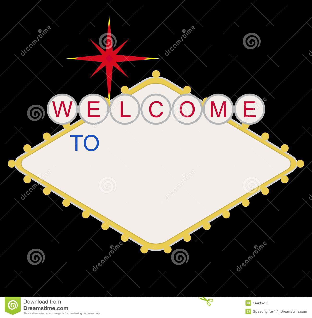 blank welcome to las vegas sign stock illustration illustration of lightbulb advertisement. Black Bedroom Furniture Sets. Home Design Ideas