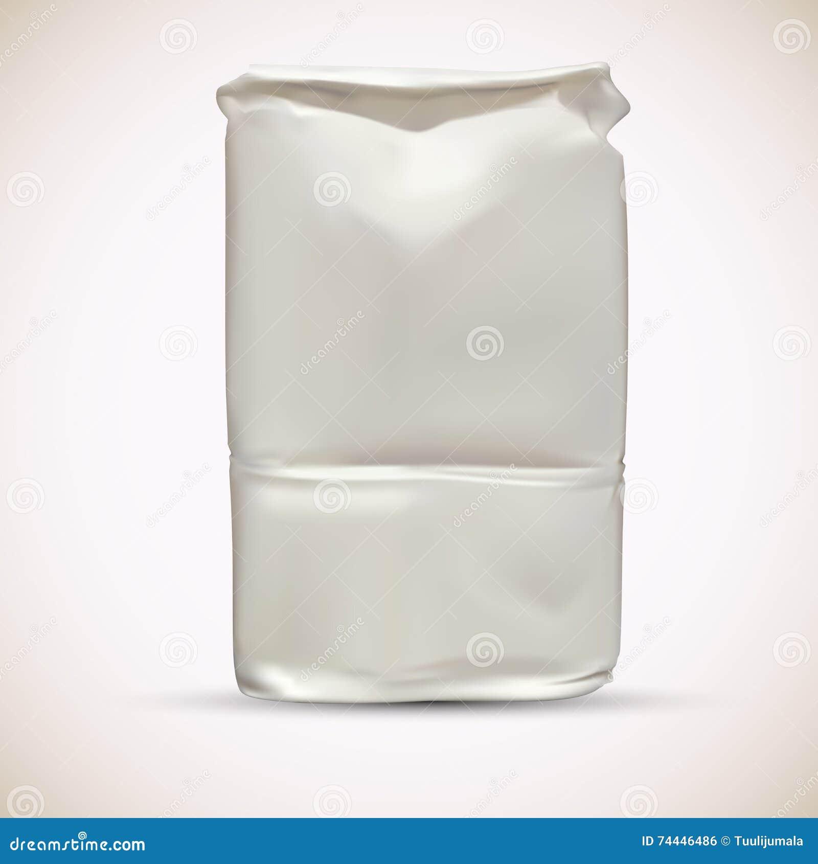 Blank Wheat Flour Packaging Bag Stock Vector