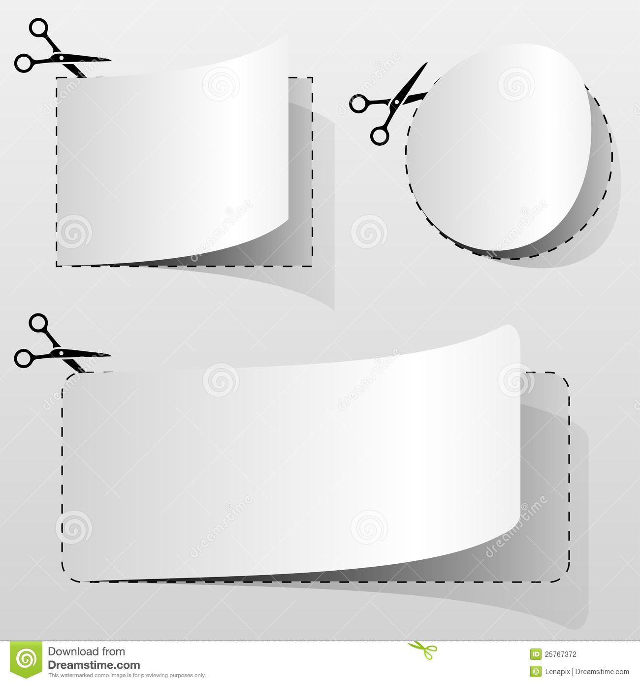 Blank Coupon Stock Photography - Image: 8483602