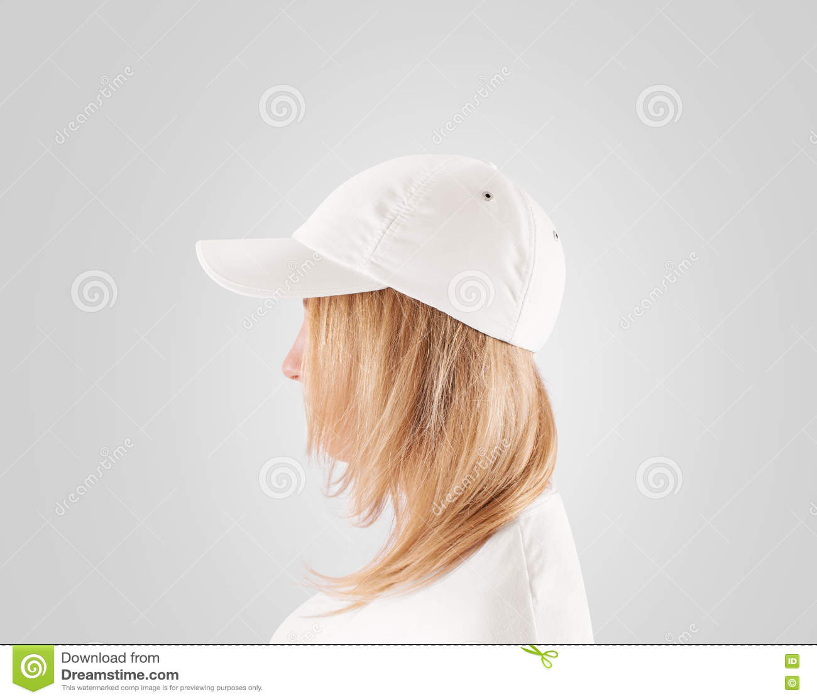 Blank White Baseball Cap Mockup Template 0392efba8c1
