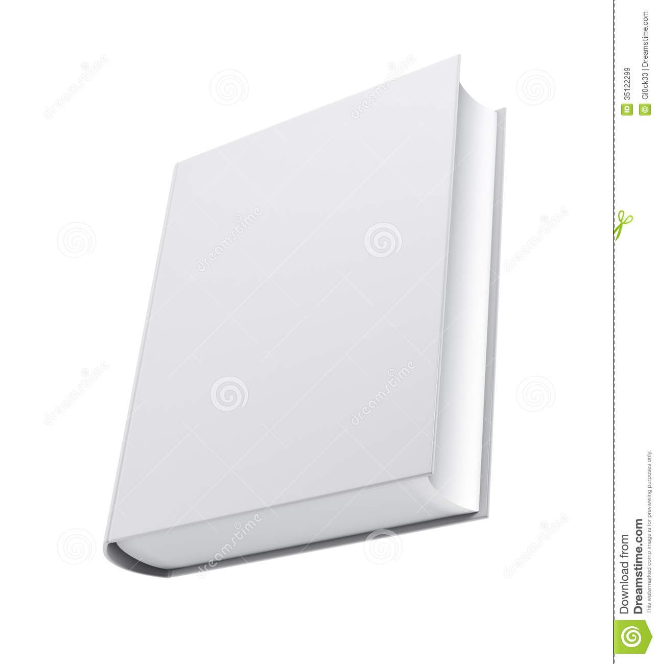 Book Cover White Background : Blank white book cover stock illustration of