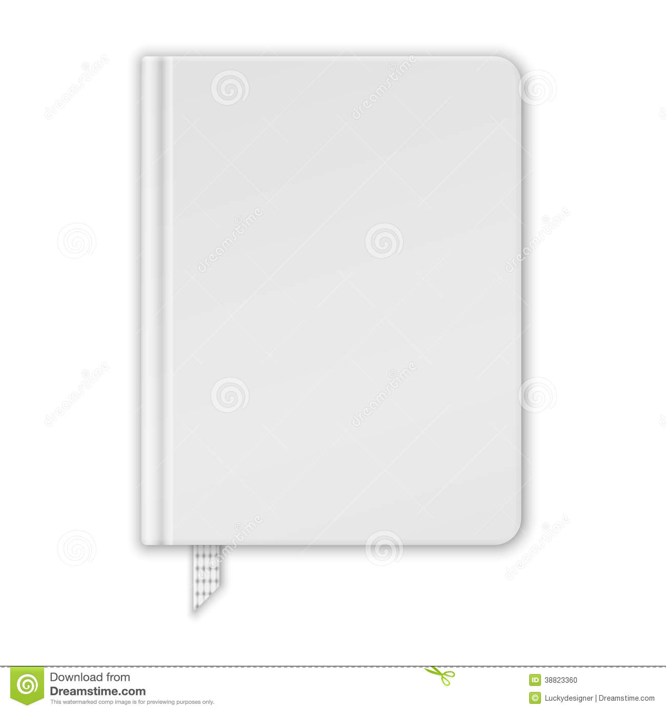 Blank Book Cover Vector Template : Blank white book or notebook template stock vector image