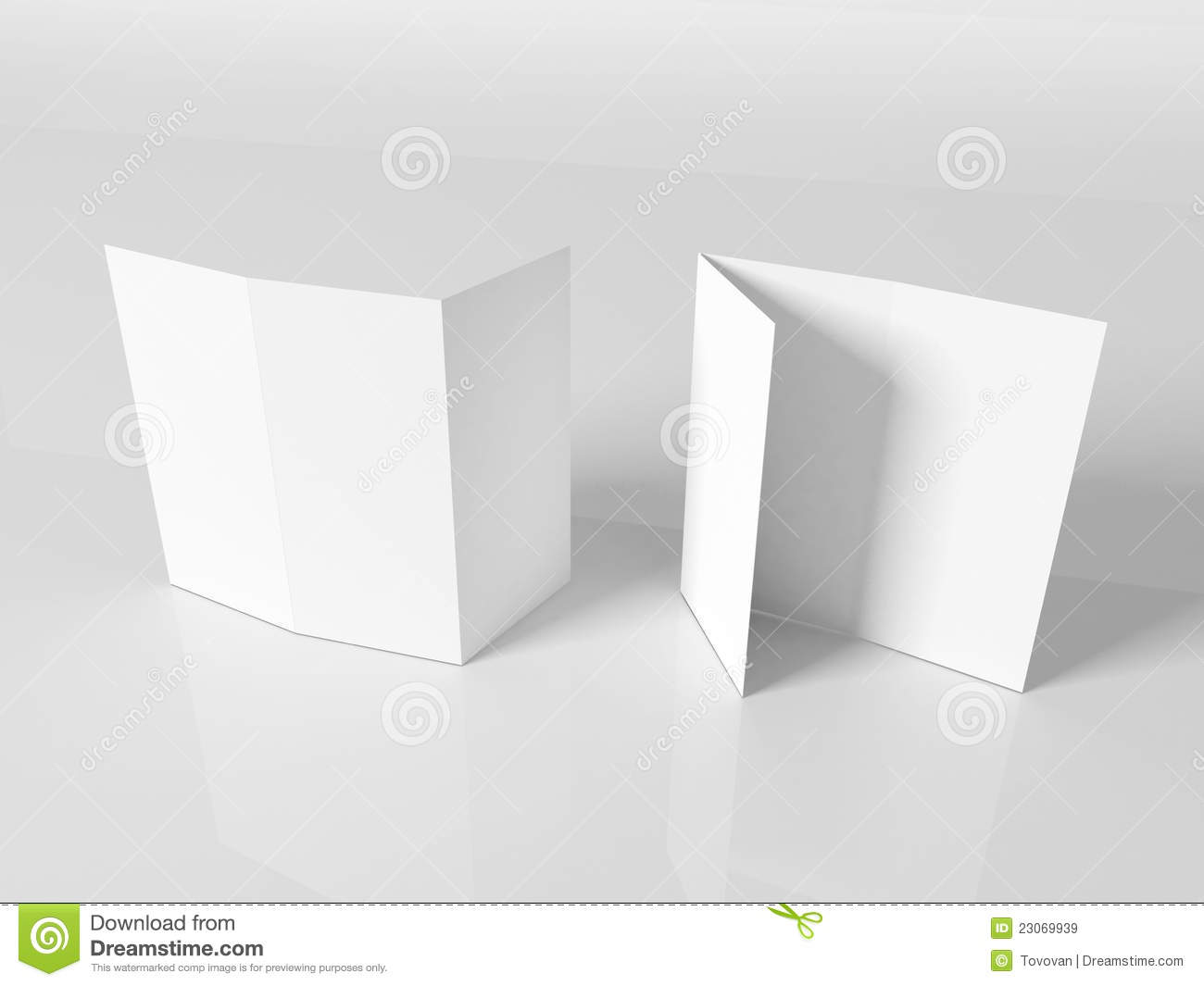 Blank White Booklet Template Stock Illustration Image - 3d brochure template