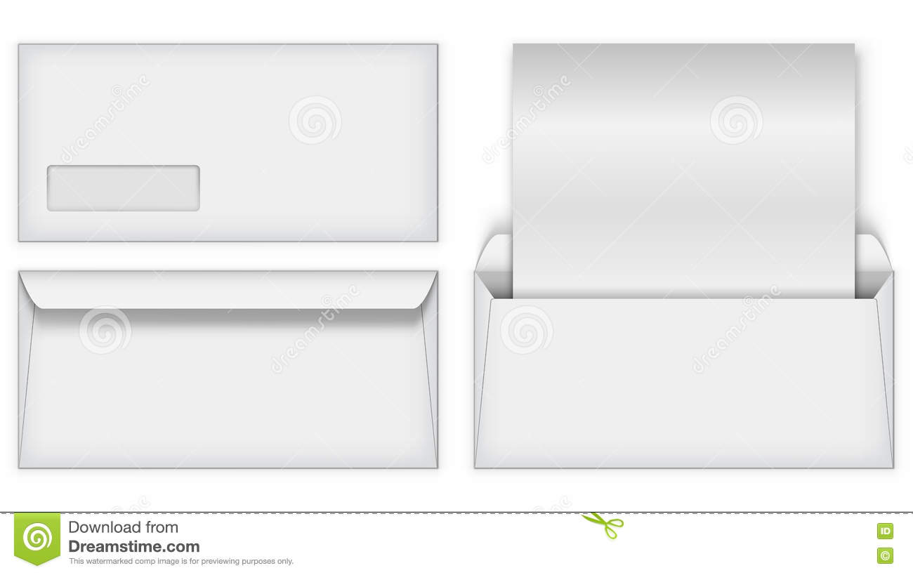 Blank white business postal envelope template stock vector blank white business postal envelope template wajeb Gallery