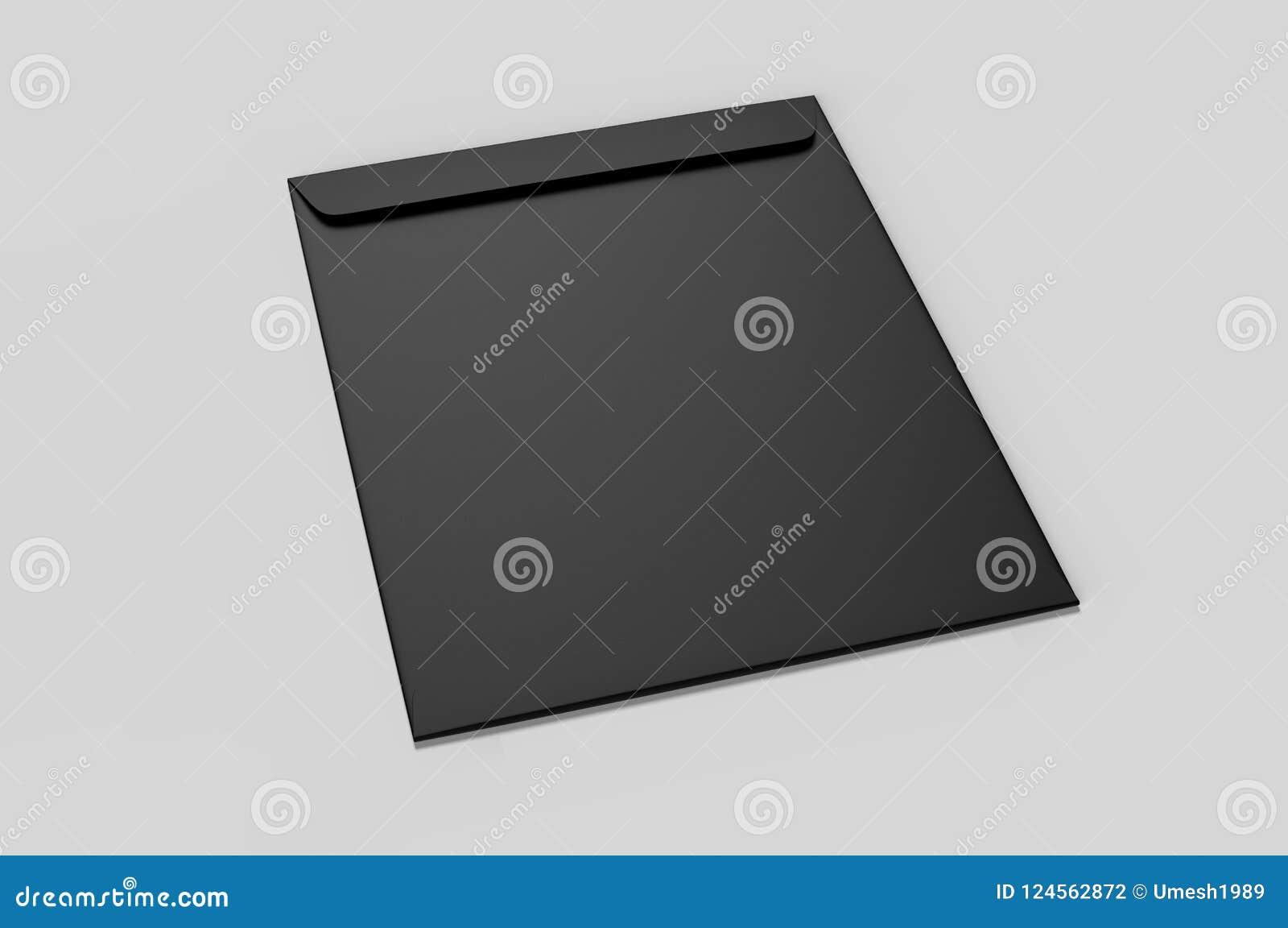 blank white c4 envelope mock up blank template 3d render