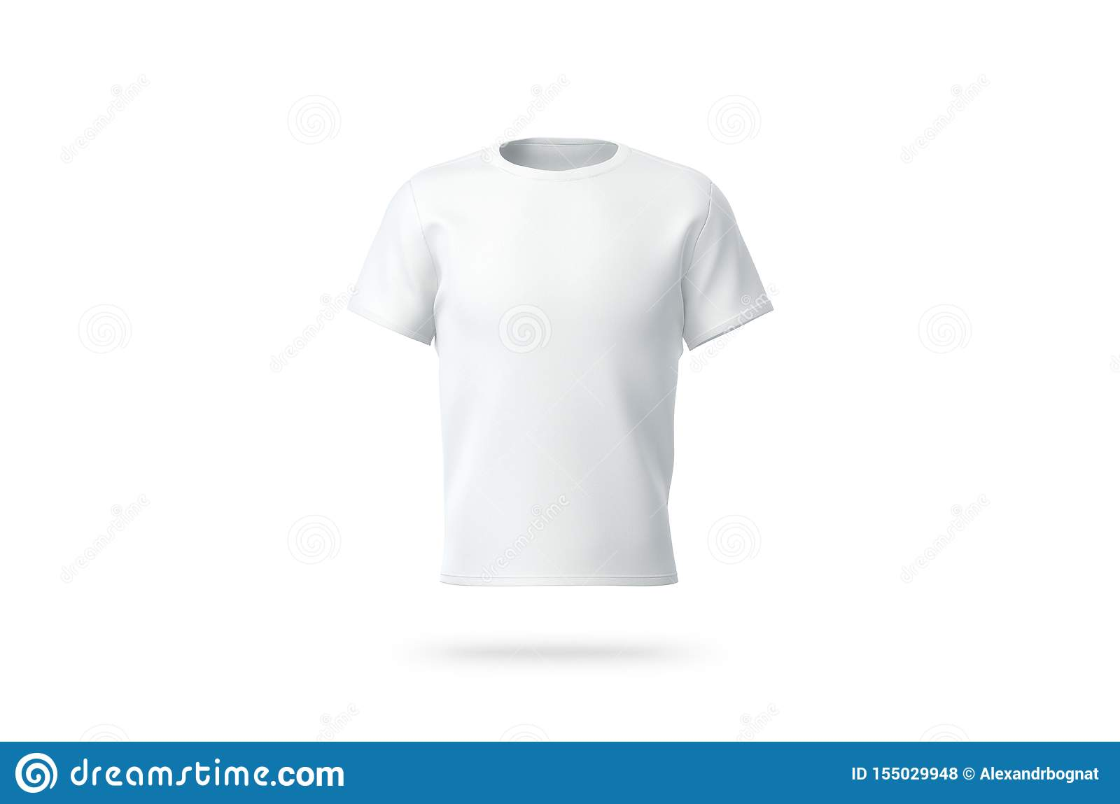 Blank White Clean T Shirt Mockup Isolated Front View Stock