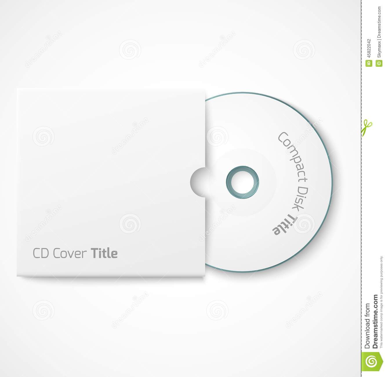 Compact Disk With Cover. Stock Photography - Image: 31426732