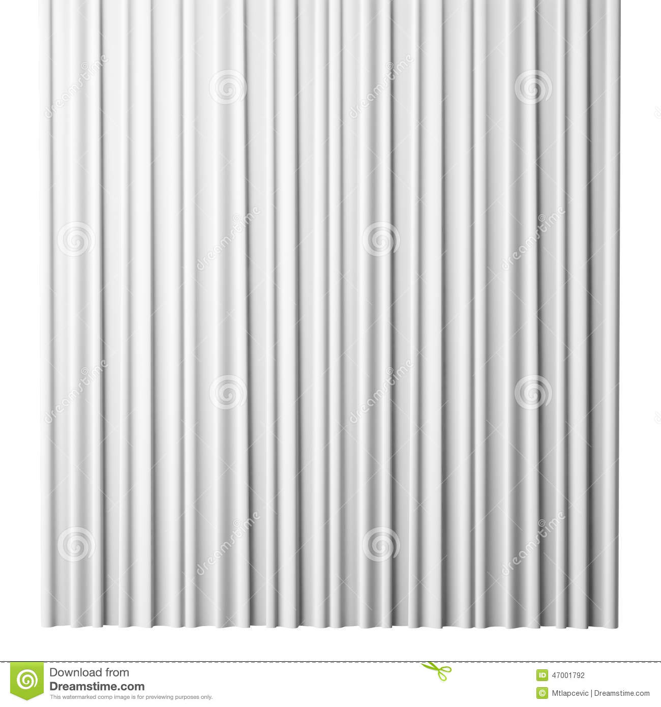 Blank White Curtain On White Background, 3d Stock ...