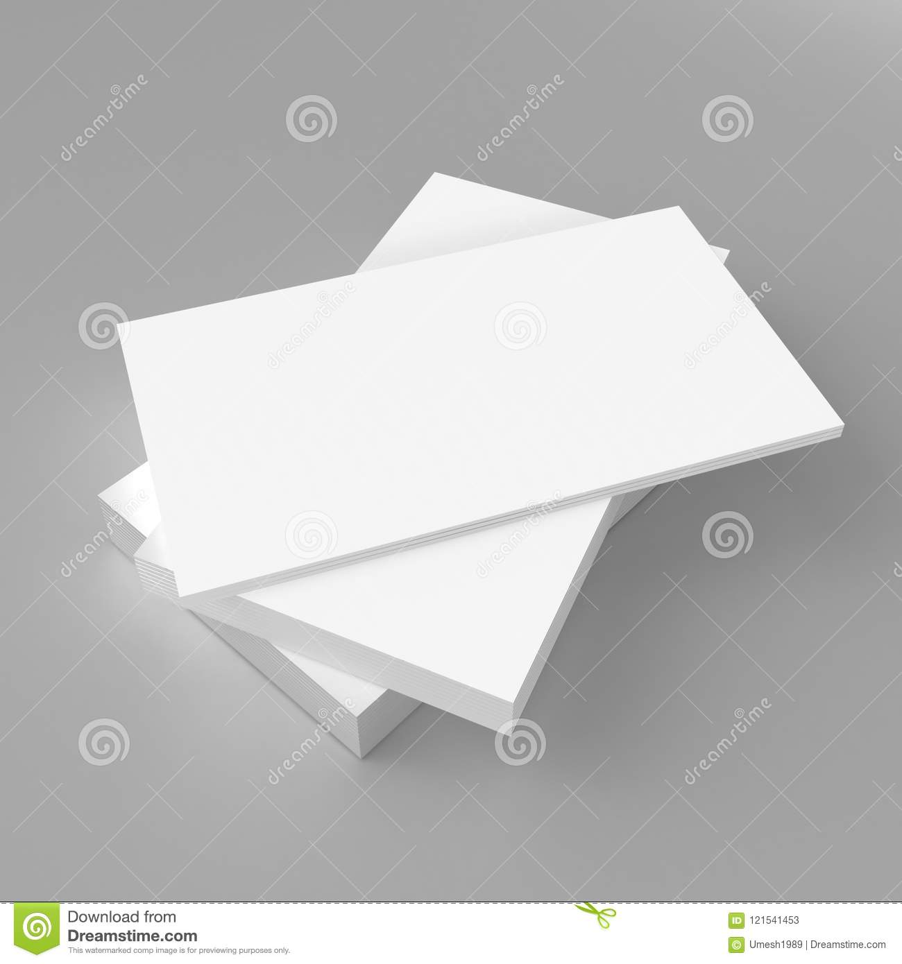 Blank white 3d visiting card template 3d render illustration for blank white 3d visiting card template 3d render illustration for mock up and design presentation wajeb Image collections
