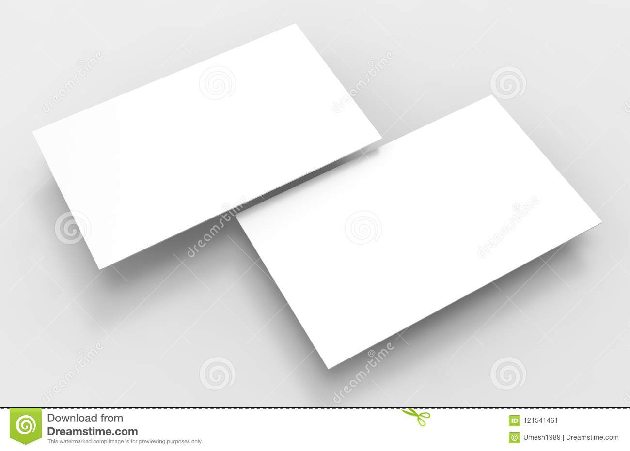 Blank white 3d visiting card template 3d render illustration for blank white 3d visiting card template 3d render illustration for mock up and design presentation cheaphphosting Images