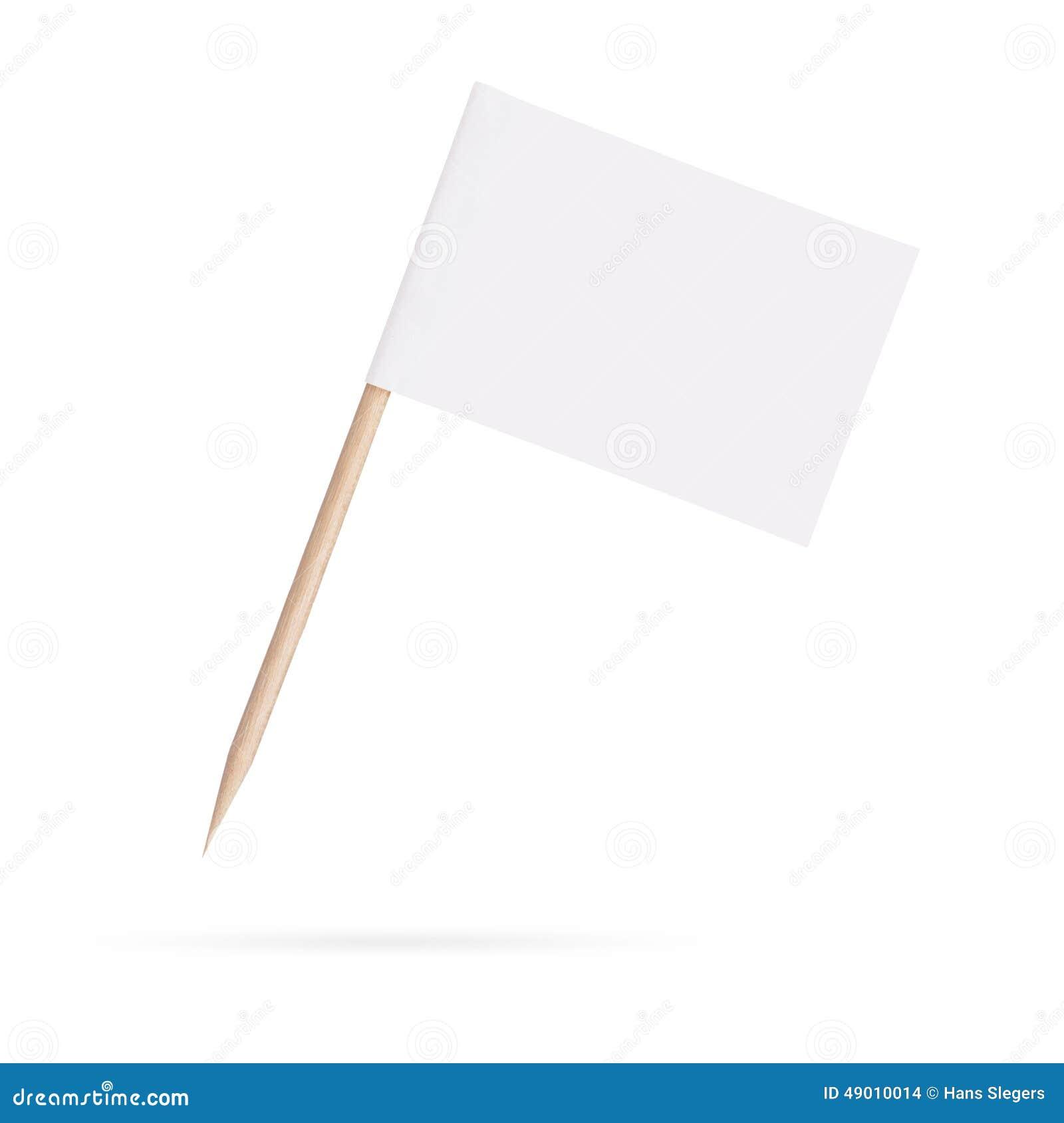 Blank White Flag Isolated On White Background Stock Photo