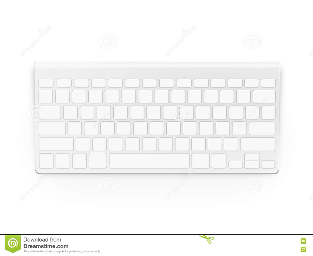 Blank white keyboard design mock up empty buttons keyp for Blank keyboard template printable