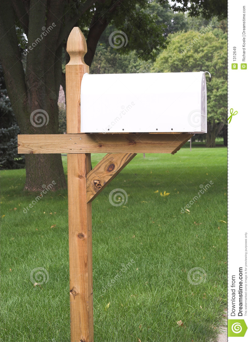 Blank White Mailbox 2 stock image. Image of outbox, news ...
