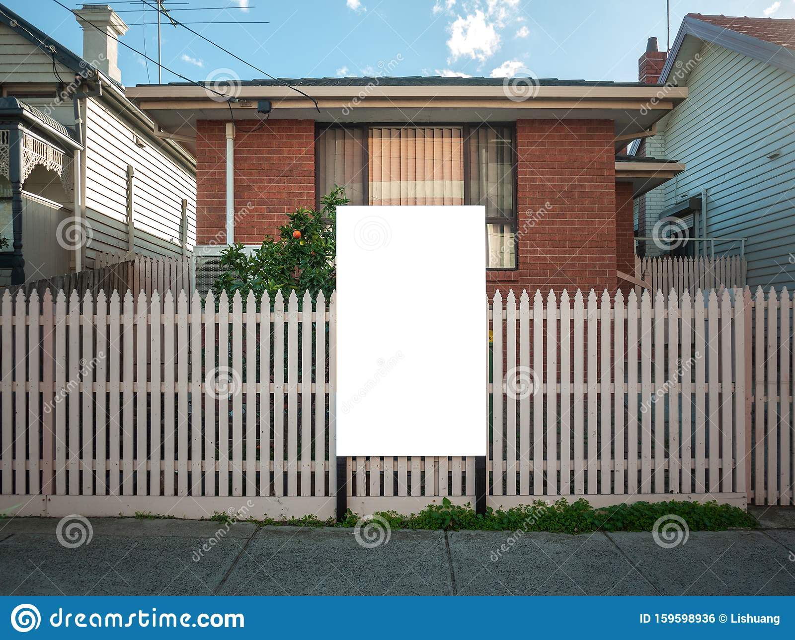 Blank White Mock Up Template Of A Real Estate ...