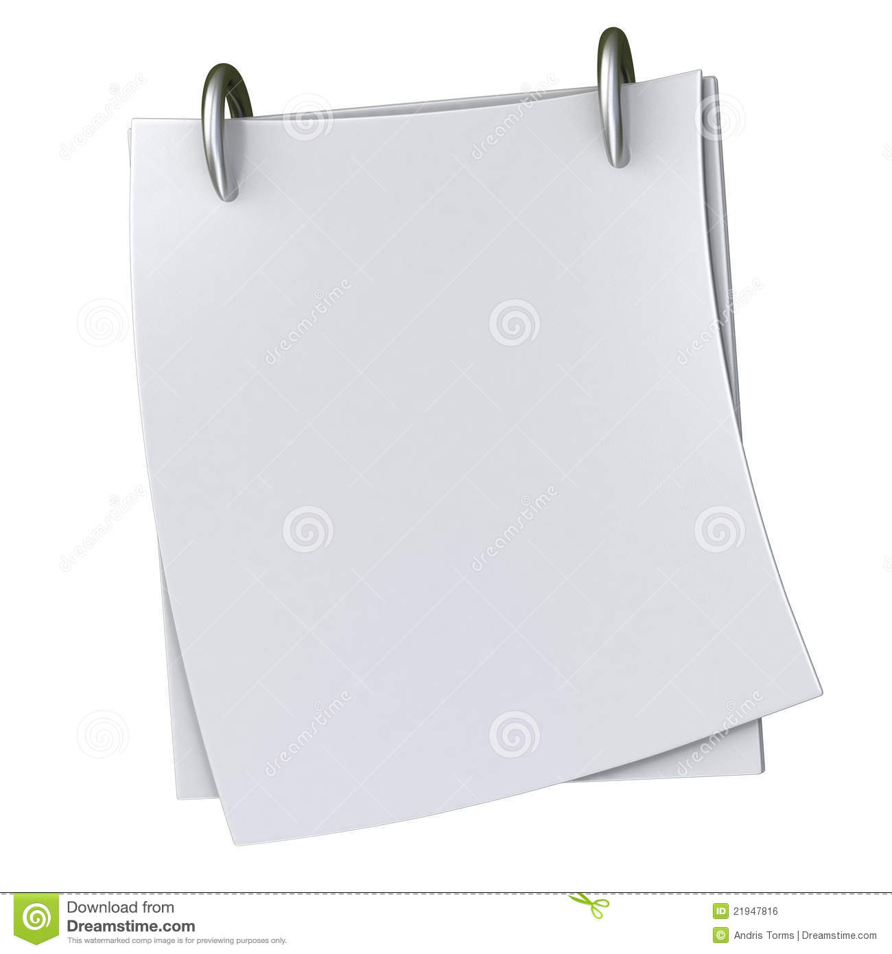blank white note paper 3d stock illustration  image of