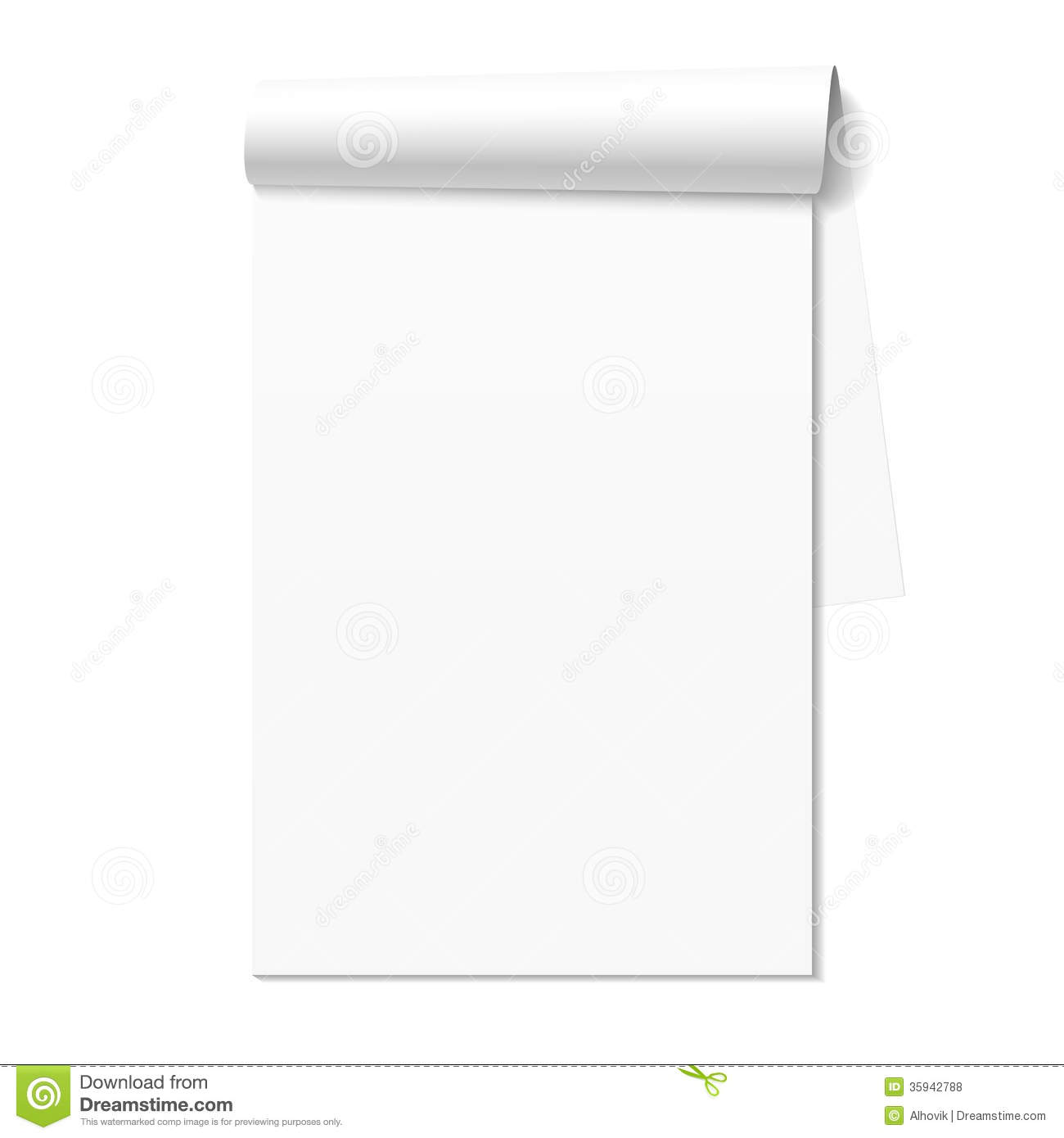 Blank White Notepad Notebook Royalty Free Stock Photos