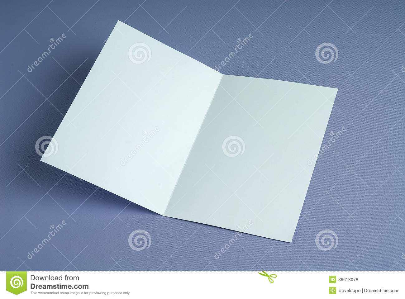Blank White Open Gift Card Stock Photo Image 39618076