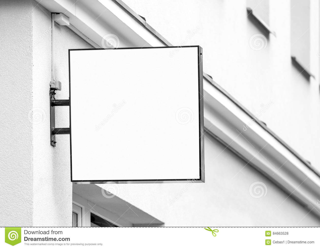 Blank White Outdoor Business Sign Stock Photo Image Of