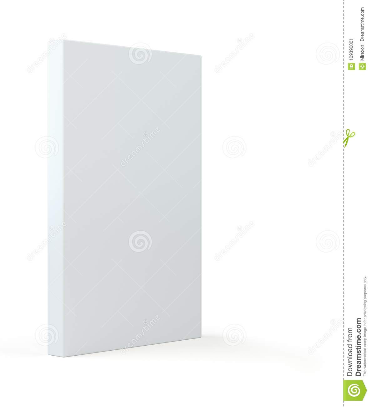 blank white package on gray background 3d illustration box template