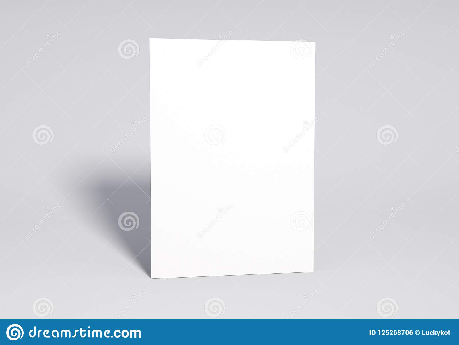 Blank white Page Mock up, 3d rendering.
